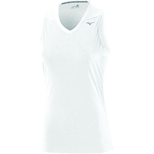 Mizuno Damen Core Sleeveless Ärmelloses T-Shirt Weiß