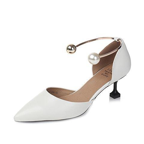 EU35 Seul Sandales Heel SHOESHAOGE Chat Shoes L'High Femmes À Un zq7HH5wx4