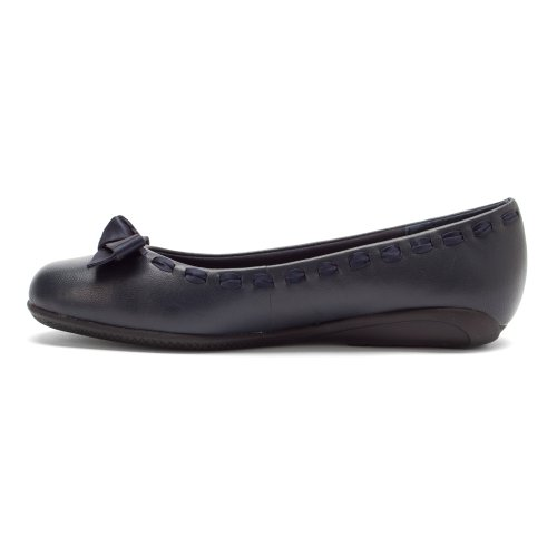 Camminando Culle Womens Fawn Ballerina Flat Navy Sheep Nappa Leather
