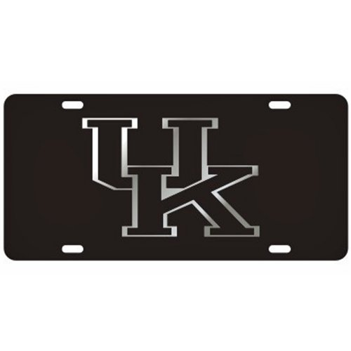 Kentucky Wildcats Black Laser Cut License Plate - Black UK Logo