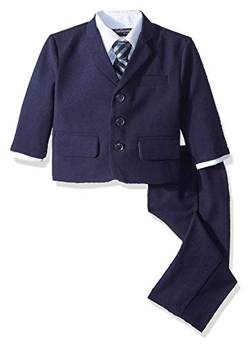 Navy Blue Communion Suits (Gino Boys G230 Navy Blue Suit Set from Baby to Teens)