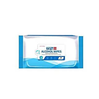 Alcohol Wet Wipes Disinfectant Wipes Portable Hand Alcohol Wipes Towel Disposable Wash Sterilization Wipes for Antiseptic Skin Cleaning Care for Home Indoor Outdoor