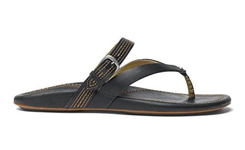 OluKai Women's Mana Lua Thong Sandal,Black/Black,US 7 M by OluKai