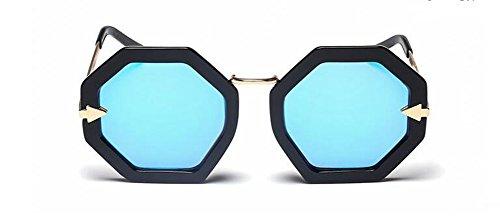rond inspirées polarisées style en retro lunettes du Lennon soleil Bleu cercle de métallique vintage Film qxFwt47Hg