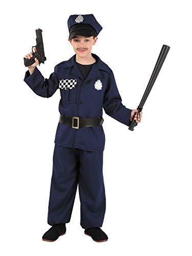 DISBACANAL Disfraz de policía para niño - Único, 8 años ...