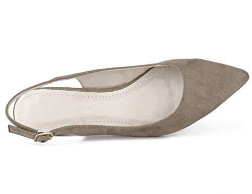Avec 41 Talon Eu Boucles 36 Dos Sangles Chaussures Sur Femmes Espigones Pour Le Et À Classics Taupe Greatonu Des Les xEwTURXqgg