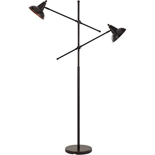 (Floor Lamps 2 Light Fixtures with Dark Bronze Finish Metal Material E26 Bulb 38
