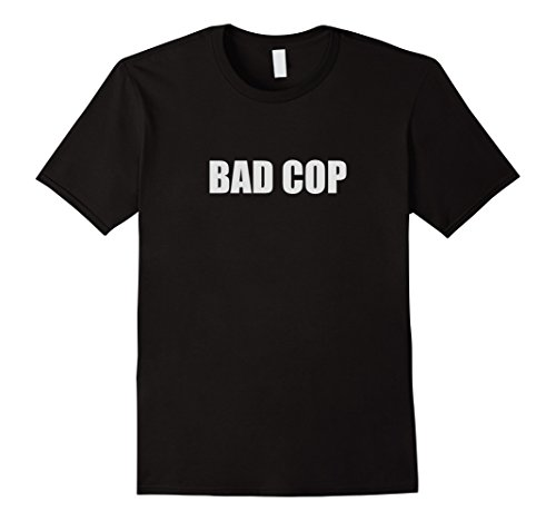 Mens Bad Cop Funny Couple Outfit (Bad Cop / Good Cop). Large (Couple Halloween Outfit)