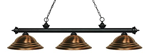 Riviera Traditional Ceiling Fan - Z-Lite 200-3MB-SAC Riviera 3 Billiard Light