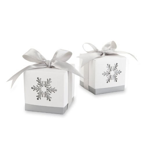 "Kate Aspen Winter Dreams"" Laser Cut Snowflake Favor Box, ..."