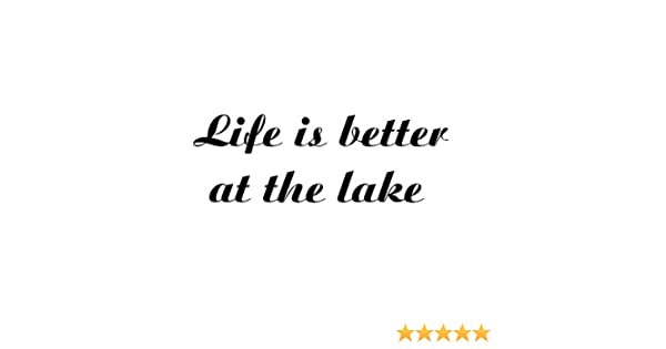 Lake Life Vinyl sticker available in several vinyl colors