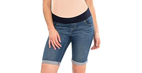 Great Expectations Maternity Womens New Size S (4-6) Full Panel Bermuda Shorts Medium Blue Wash