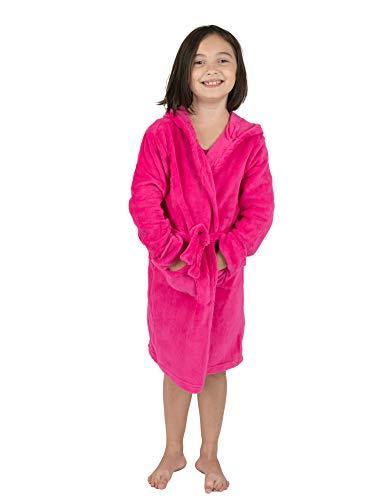Leveret Kids Fleece Sleep Robe Magenta Size 12 Years