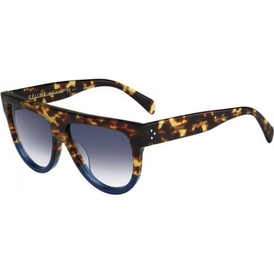 Celine 41026/S FU9DV Tortoise / Blue Shadow Round Sunglasses Polarised Lens - Mens Polarised Sunglasses
