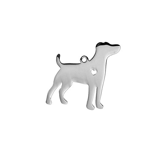 SEXY SPARKLES Stainless Steel Dog Pendants Shapes Dog Lover Gift Personalize with Name (Jack Russell Terrier) (Jack Terrier Charm)