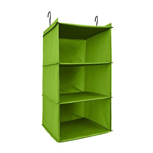 - UMEXUS 3 Shelves Foldable Hanging Closet Organizer Hanging Shoe Organizer Oxford Cloth, with 2 Metal Hooks(Green-3 Shelf)