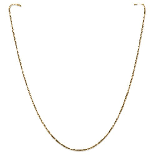 14k Yellow Gold 1.6mm Round Snake Chain Necklace or Bracelet SNA160 14k Yellow Snake Chain