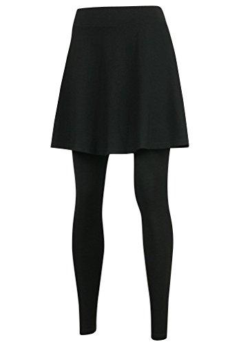 (ililily Flare Skirt Leggings Plus-Size Elasticated Long Skinny Pants)