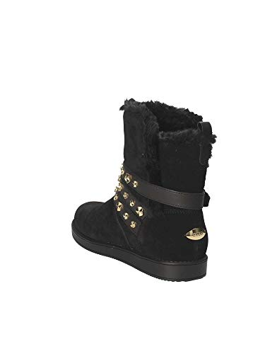 Tronchetto Donna In Leese Camoscio Black Guess qx7d6q