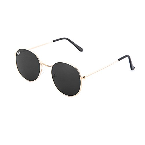 DELACROIX mujer Bronce redondo TWIG de sol Gafas hombre Negro qRtvw1
