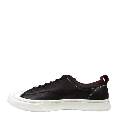 a3b8f6d399b2 Converse Jack Purcell M-Series Tumbled Leather Ox Black Red Block Egret  Men s Lace up Casual Shoes  Amazon.co.uk  Shoes   Bags