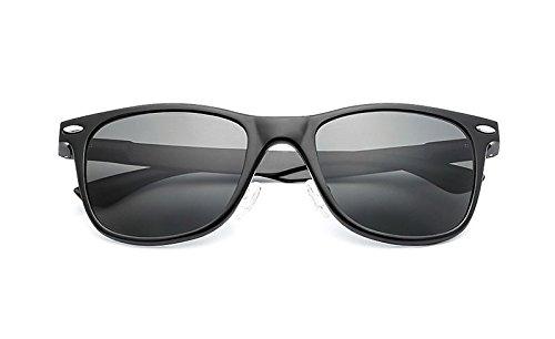 Gafas Unisex uñas arroz Sol polarizadas JCH Protección Gafas de gray de de Sol UV Black Vintage clásicas de 7Y7CZwqA