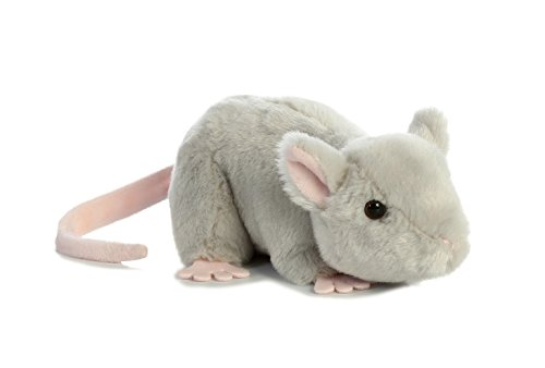 Aurora 31731 Mouse Stuffed Animal Plush Toy, 8, Grey