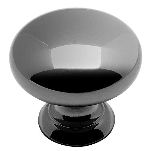 25 Pack - Cosmas 4950BN Black Nickel Cabinet Hardware Round Mushroom Knob - 1-1/4'' Diameter