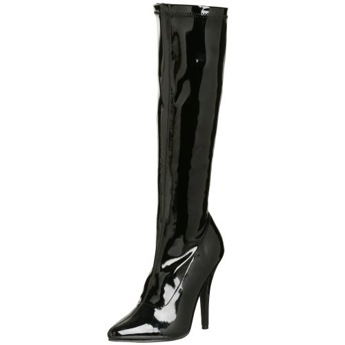 Pleaser SEDUCE-2000 Damen Stiefel , Gr. 37 ( 4 UK), Schwarz (Noir brillantUK)