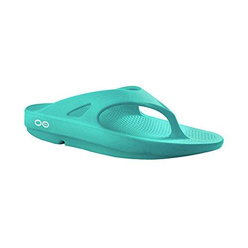 Oofos Unisex Ooriginal Thong Sandals, Aqua, 7 B(M) US Men/9 B(M) US Women