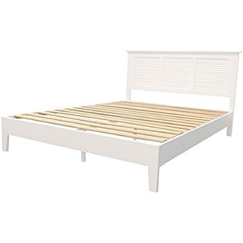 Amazon Com Wood Amp Style Madison Platform Bed With Open