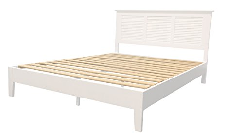 Platform Bed Queen White (Target Marketing Systems 30990WHT Ansel Queen Wood Platform Bed White)