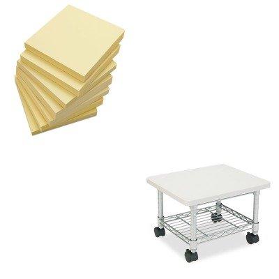 (KITSAF5206GRUNV35668 - Value Kit - Safco Underdesk Printer/Fax Stand (SAF5206GR) and Universal Standard Self-Stick Notes (UNV35668))