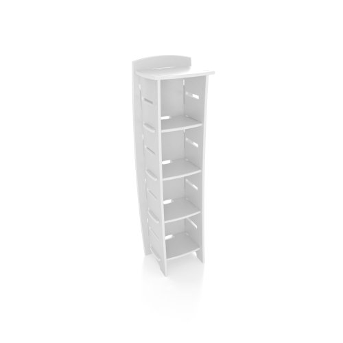 Legare 59-Inch-by-18-Inch Bookcase, White