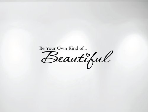 Innovative Stencils 1152 28 mblack Be Your Own Kind of Beautiful Vinyl Wall Decal Quote, 28-Inch Wide by 8.5-Inch High, Matte Black