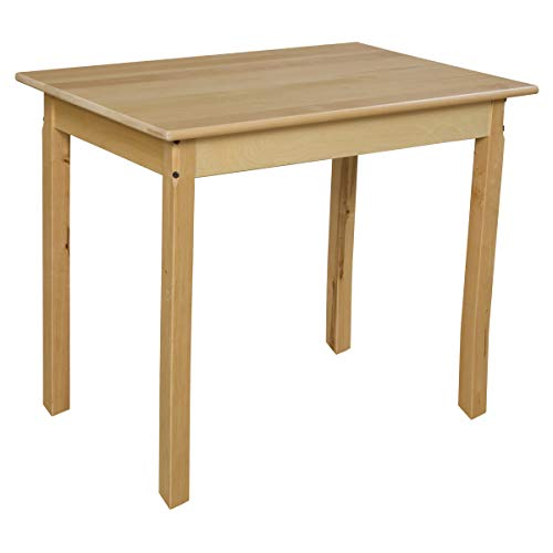 Wood Designs 24 x 36 Rectangle Hardwood Table with 29 Legs