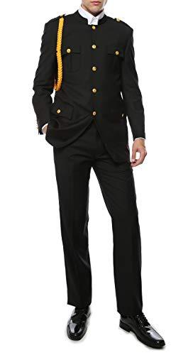 40R Ferrecci Mens Black Military Cadet Uniform (Cadets Uniform)