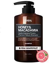 KUNDAL Honey&Macadamia Hydro-Intensive Protein Premium Nature Shampoo (PINK GRAPEFRUIT) 500ml (Shampoo Grapefruit Pink)