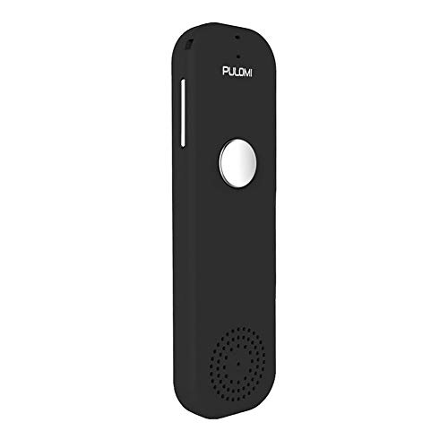 PULOMI Easy Trans Smart Language Translator Device Electronic Pocket Voice Bluetooth 52 Languages for Learning Travel Shopping Business Black Fit for Apple iPhone