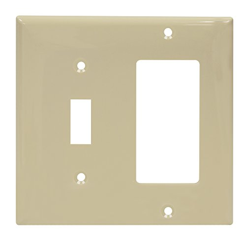 ENERLITES Combination Toggle Switch/Decorator Switch Wall Plate, Size 2-Gang 4.50