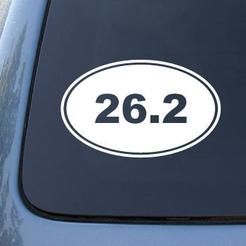 26 2 marathon running euro oval vinyl car decal sticker 1765 vinyl color