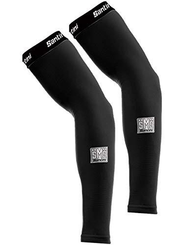 (Santini Black Totum Pair of Cycling Arm Warmers (XL/XXL, Black))