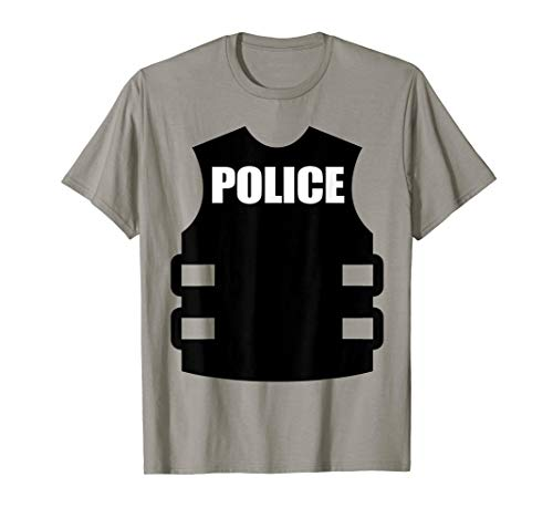 Police Officer Halloween Costume T-Shirt Kids to Adult]()