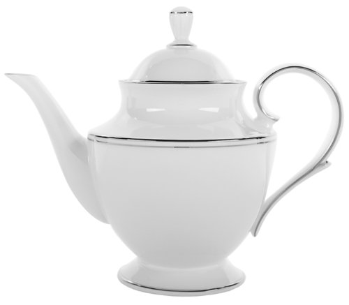 Lenox Federal Platinum Bone China Teapot with Lid (China With Lid Teapot)