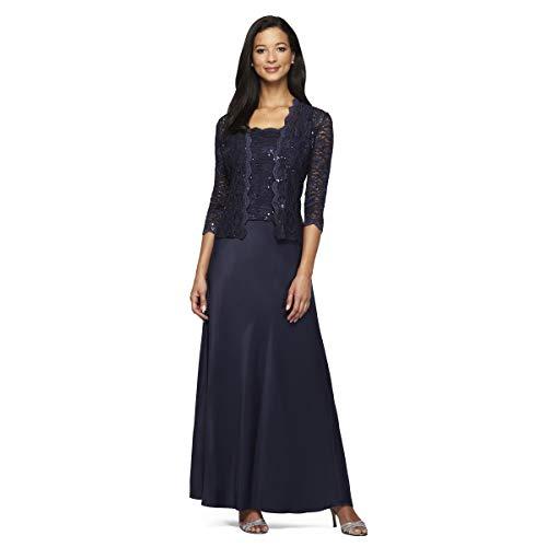 - Alex Evenings Women's Sleeveless Dress and Matching Jacket, Midnight, 10