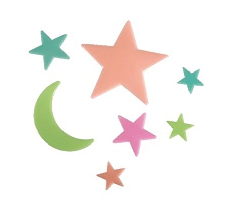 Price comparison product image Colourful Stars Glow In Dark Decal Wall Art Ceiling Wall Sticker