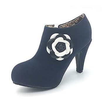 Chaussures automne à bout rond Lvxiezi Fashion femme 4zSQjfG1HO
