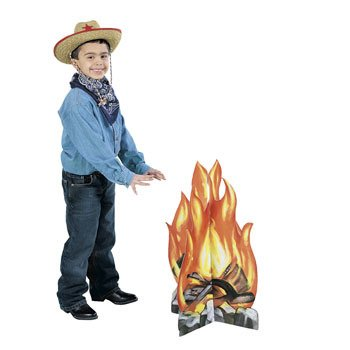 Campfire Standup Western Decoration (1 pc) (Cardboard Camp)