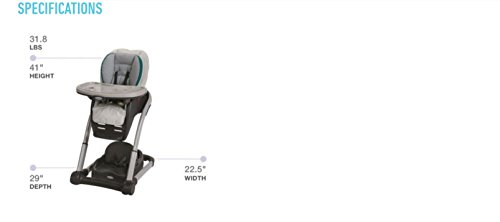 Graco Blossom 4-in-1 Convertible High Chair Seating System, Nyssa by Graco (Image #13)