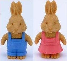Iwako Mr and Mrs Rabbit Japanese Puzzle Erasers]()
